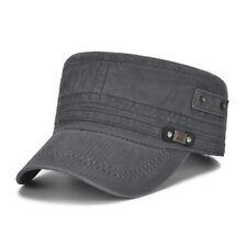 lavado militar ejército gorra cadete camioneros ajustable algodón sombrero 9b4a2ffd5c2