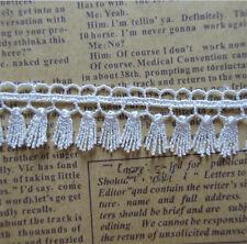 5 Yard Vintage Fringe Tassel White Lace Wedding Trim Ribbon Applique Sewing