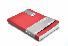 """Zequenz Soft Bound Journal Notebook Large 5.75 x 8.25"""" Red , Grid 400 pages"""