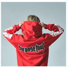 Mens Womens Justin Bieber Purpose World Tour Winter Red Hoodie Sweatshirt Sweats XXXL in My Size Chart