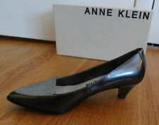 Anne Klein Shiny Gray Silver Low HEELS PUMPS Size 7.5 M Shoes