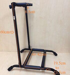 Durable Haze GS014-3 Foldable Metal & Rubber Structure 3-Guitar-Stand/Rack,Black