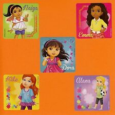 10 Dora the Explorer and Friends Characters - Large Stickers - Party Favors