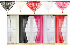Voile Solid Pattern Ready Made Curtains & Pelmets