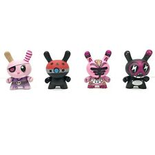 Kidrobot Dunny Series 5 Lot Of 4 JK5 Devilrobots Clutter Magazine Reach Vinyl