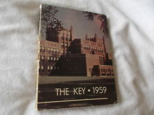 EVANSTON TOWNSHIP ILLINOIS HIGH SCHOOL1959 YEARBOOK-THE KEY-GREAT PICTURES