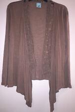 H.I.P. Brown Loose Shrug Wrap Crocheted collar Medium