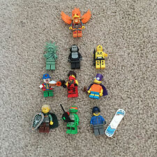 LEGO minfigure Crash Test Manichino Gorilla ELF Snowboarder CLOWN LADY LIBERTY x10