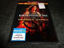 THE HUNGER GAMES & CATCHING FIRE-2 movies-LENTICULAR COVER-Jennifer Lawrence DVD