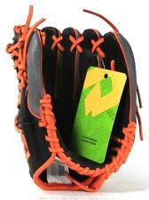 "DeMarini Cowhide Leather Black Orange & Gray 11 1/2"" Youth Baseball Insane Glove"
