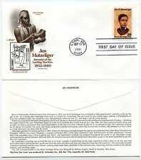 2567  Jan Matzeliger Black Heritage series 1991, Artmaster FDC
