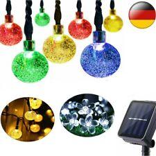LED Solar Kugel Lichterkette Garten Außen Outdoor Beleuchtung Lampe PartyLicht