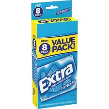 Wrigley's Extra Peppermint Sugar free Gum, value pack (8 packs total) Free Ship