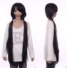 W-559 Date A Live Kurumi Tokisaki schwarz black 100cm Cosplay Perücke Wig Anime