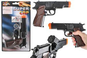 8 Shot Cap Gun Barretta Toy with 144 FREE Shot Ring Caps Kids gift