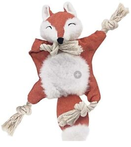 Fox Toy with Crinkle Rope Inner (no Stuffing)