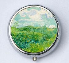 Green Wheatfield at Auvers Pill case pillbox box holder van gogh fine art
