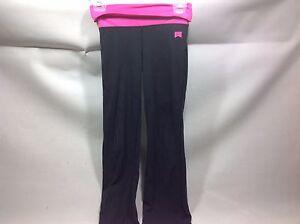 Nike Foldover Waist Yoga Pant M Black/Hot Pink engineered fr world class athl