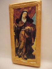 Saint Barbara Santa Barbara Christianity Roman Catholic Old World Icon Art OOAK