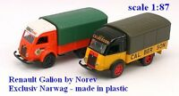 "Set de 2 Renault Galion ""Renault Service & Calberson"" - Norev - Echelle 1/87"