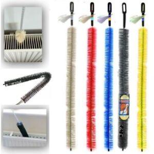 Long Reach Flexible Radiator Heater Heating Bristle Brush Dust Cleaning Cleaner