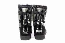 UGG AUSTRALIA WOMENS BAILEY BOW BLING BLACK SIZE 7 US BLING BLING