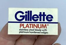 Vintage Paper Wrapped GILLETTE PLATINUM Double Edge Razor Blade BGIMa#16