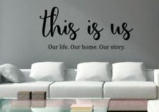 This Is Us Our Life Vinyl Lettering Stickers Kitchen Wall Decals For Home Decor
