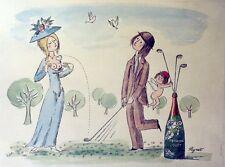 """""""PERRIER-JOUËT"""" Affiche originale entoilée  PEYNET 1969    60x80cm"""