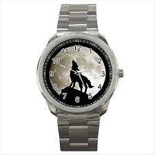 Nuevo * Hot Wolf Luna Llena Calidad deporte Metal reloj de pulsera De Regalo
