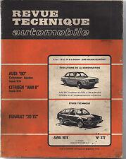 REVUE TECHNIQUE AUDI 80 CARBURATEUR-INJECTION DEPUIS 1974 RENAULT 20 TS