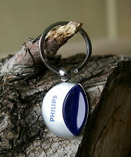 Blue Philips Silver Tone Metal Keychain Keyring