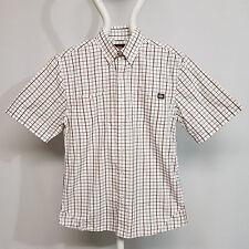 Dickies Bradbury Shirt Brown Check Herrenhemd AG7000-BRC kariert weiß braun Gr S