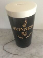 More details for rare huge pottery guinness pint glass charity collection bar money box or tip ja