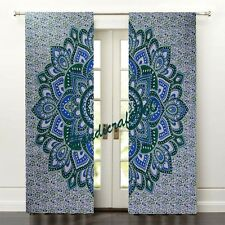 Lotus Floral Room Door curtain Window Curtain Drape Panel Sheer Tapestry