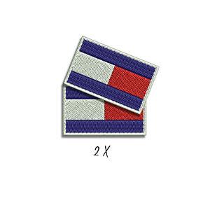 Parche estilo TOMMY bandera iron patch HILFIGER flag logo