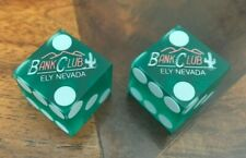 Bank Club Ely Nevada Nv Nev Casino Dice Green 3/4 Rated R-9