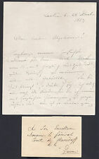 King Leopold I Belgium Signed Letter Birthday 1857 to his Nephew Count Mensdorff