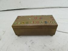Vintage Reuge Music Ste Croix Swiss Movement Moulin Rouge in Crested Wooden Box