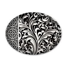 Michel Design Works Glass Trinket / Soap Dish Black Florentine - NEW