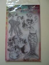 """RANGER DYLUSIONS BY DYAN REAVELEY CLEAR STAMPS """"PLENTY OF FISH IN THE SEA"""" BNIP"""