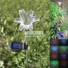 6 x Solar Lily Flower Garden Stake Color Changing Light