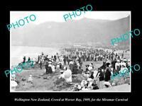 OLD LARGE HISTORIC PHOTO OF WELLINGTON NEW ZEALAND, THE MIRAMAR CARNIVAL c1909