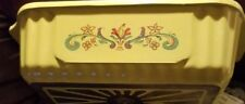 Vintage Nordic Ware Bread-n-Board 1lb Bread Pan Aluminum Yellow W/Floral Design
