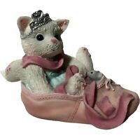 2001 Vintage Enesco Calico Kittens Priscilla Hillman Figurine Cat Kitty Dancer