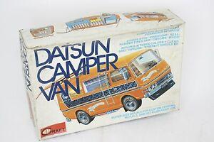 MINICRAFT Datsun Camper Van 1/20 Vintage Model Kit Open Box