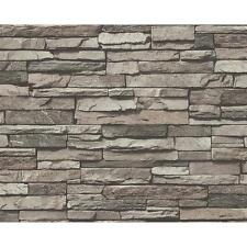 NEW AS CREATION SLATE BRICK WALL PATTERN FAUX EFFECT EMBOSSED VINYL WALLPAPER