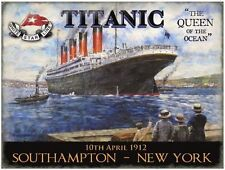 Titanic, Queen of the Ocean, Liner, Ships & boats, Picture, Small Metal/Tin Sign