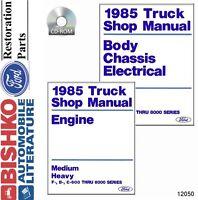 1985 Ford Medium Heavy Duty Truck Shop Service Repair Manual CD Engine OEM