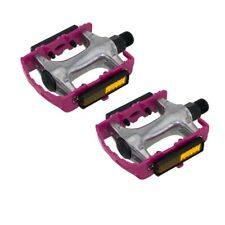 """940 Alloy Pedals 9/16"""" Pink Bicycle Bike Road MTB Cruiser Fixie"""